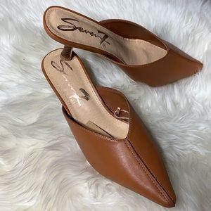5a101e3e6a Seven7 Shoes | Nwt Congac Kitten Heel Mule Slip On | Poshmark